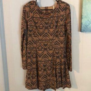 Southwest long sleeve dress